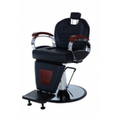 #BC06 BARBER CHAIR BILL BARBER CHAIR - WOOD ARMS